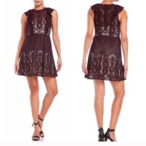 Parker Cordovan Lace Dress Size Large